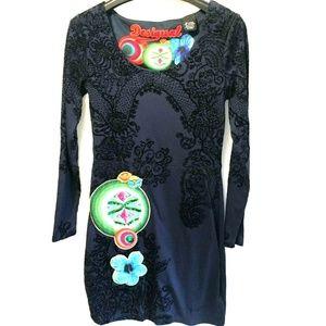 Desigual Size S / M Navy Blue Artsy Dress